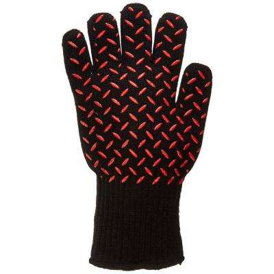 Comfortable Fit Fabric, Silicone, Kevlar, Cotton Grilling Glove