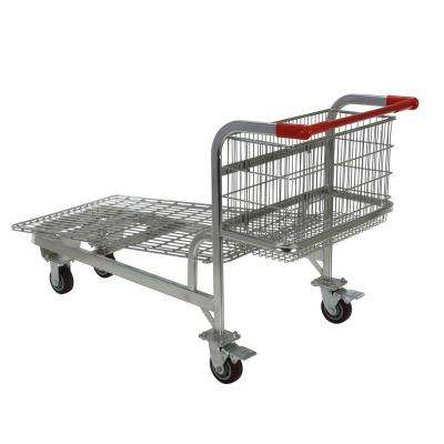28.75 in. x 59.25 in. x 36.75 in. Nestable Wire Cart
