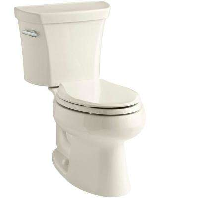 Wellworth 2-piece 1.28 GPF Single Flush Elongated Toilet in Almond