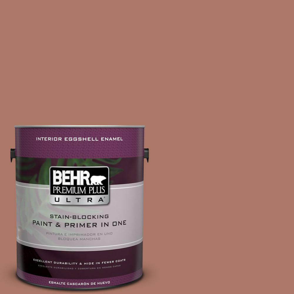 BEHR Premium Plus Ultra 1-gal. #210F-6 Chutney Brown Eggshell Enamel Interior Paint, Browns/Tans