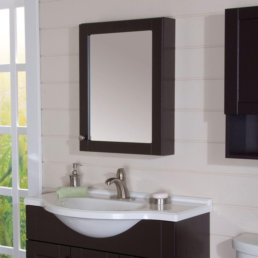 Beautiful Espresso Bathroom Wall Cabinet