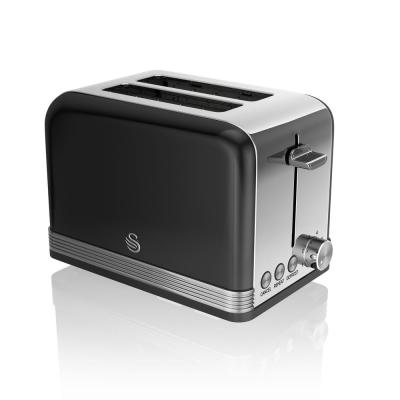 Retro 2-Slice Black Toaster