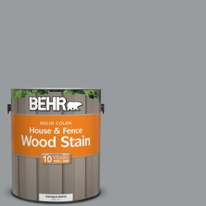 BEHR 1 gal. #N500-4 Pencil Sketch Solid House and Fence Wood Stain by BEHR