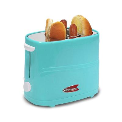 Americana Blue Hot Dog and Bun Toaster with Crumb Tray