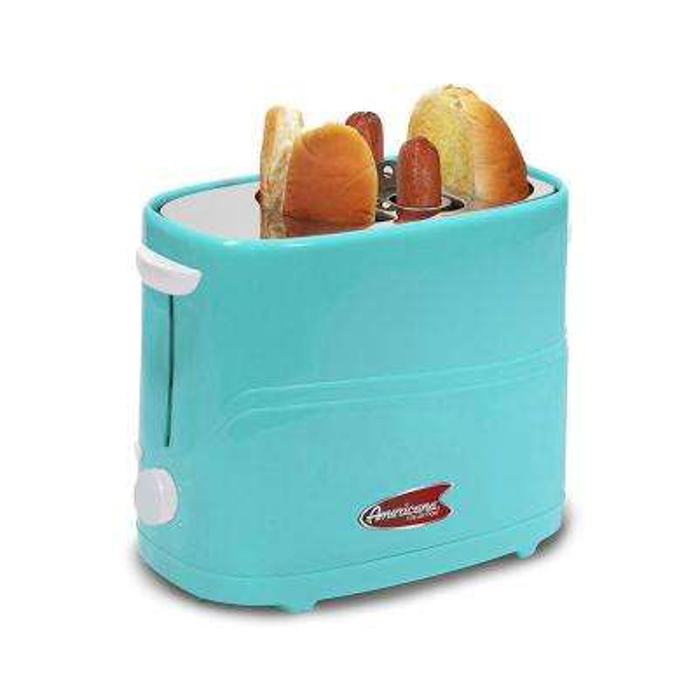 Americana Blue Hot Dog and Bun Toaster