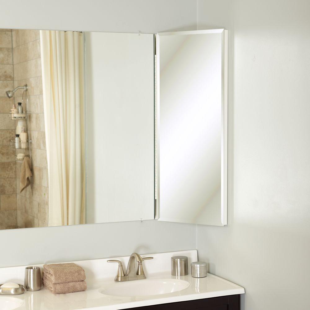 Mirror Surface Mount Medicine Cabinet, Corner Mirror Cabinet Bathroom