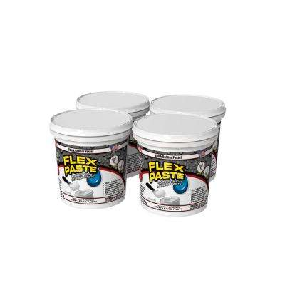 Flex Paste 3 lb. White All-Purpose Strong Flexible Watertight Multipurpose Sealant (4-Pack)