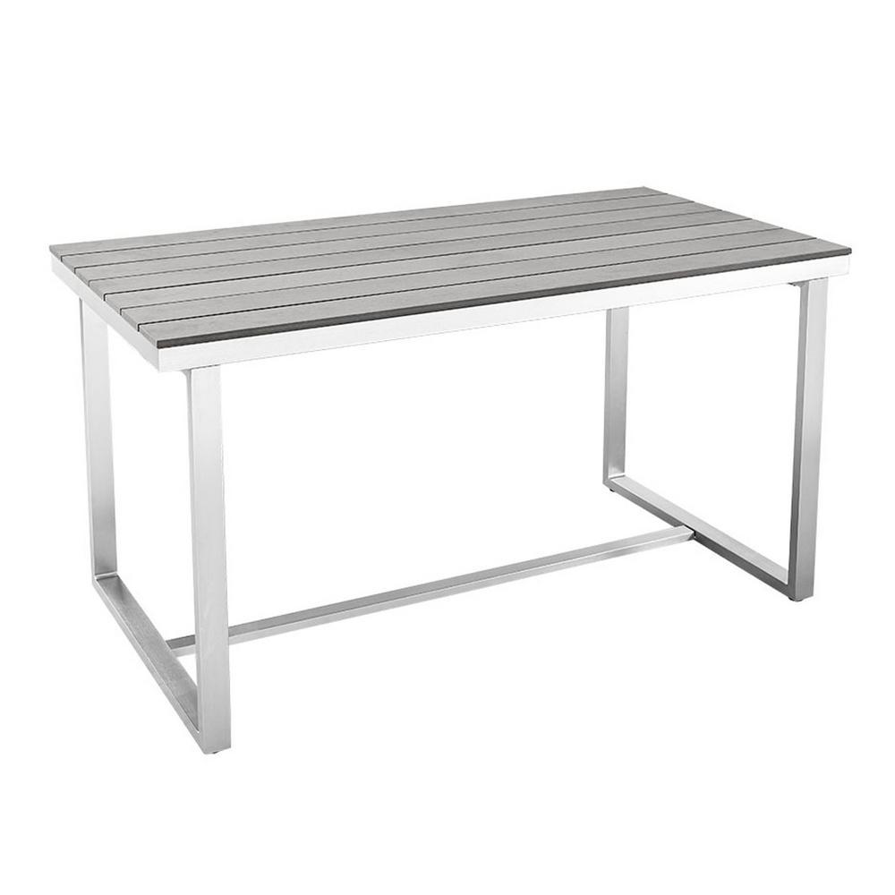 Walker Edison Furniture Company AllWeather Grey Outdoor Dining - All weather outdoor dining table