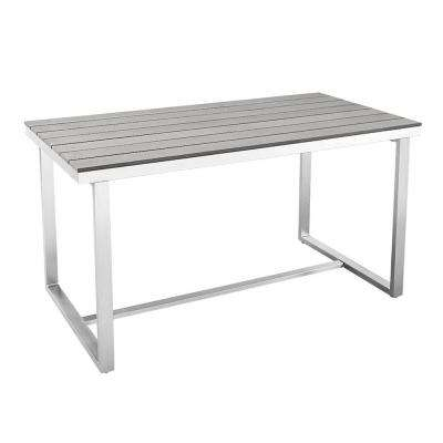 All-Weather Grey Outdoor Dining Table