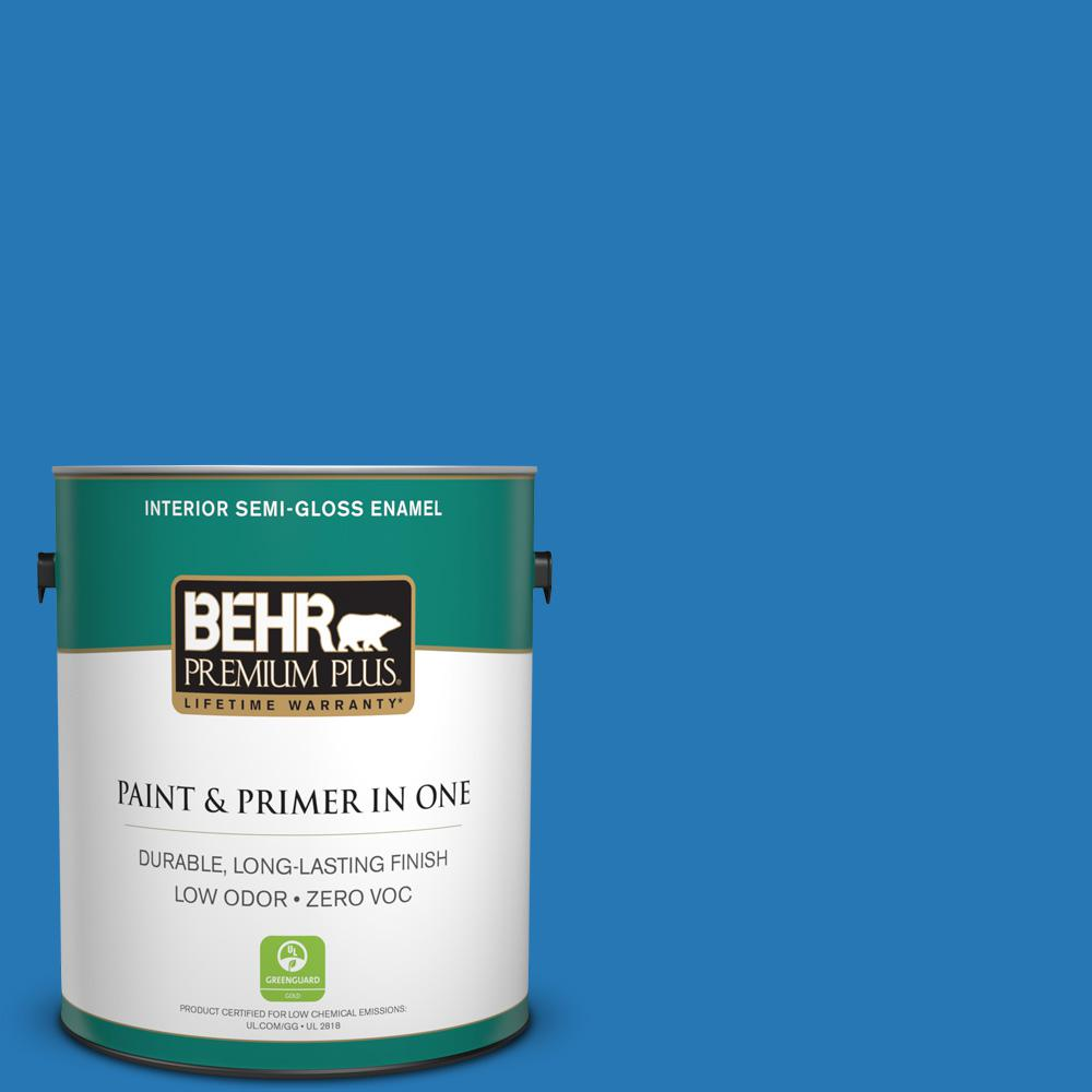 1-gal. #P500-6 Deep River Semi-Gloss Enamel Interior Paint