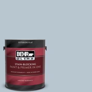 Behr Ultra 1 Gal 560e 3 Silver Strand Flat Exterior Paint And Primer In One 485001 The Home Depot