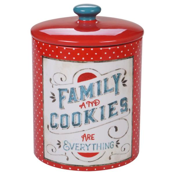 Certified International Country Fresh Multi-Colored 9.75 in. Biscuit Jar 26813