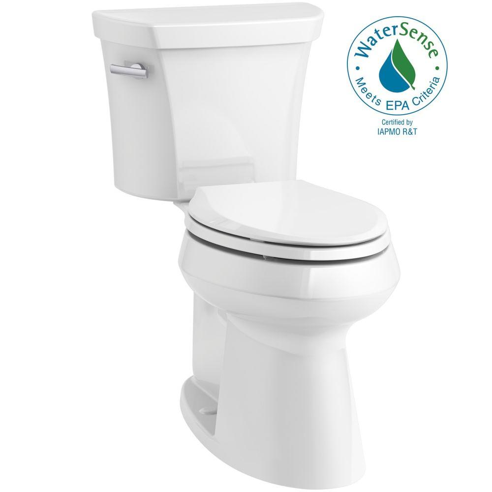 Highline 2-piece 1.28 GPF Single Flush Elongated Toilet in White