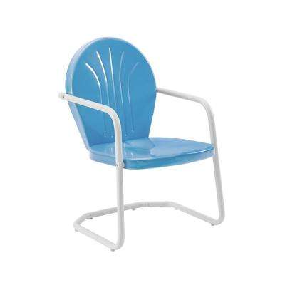 Griffith Blue Metal Outdoor Lounge Chair