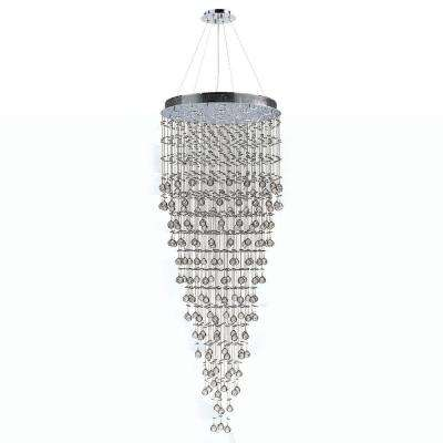 Icicle Collection 16-Light Chrome and Crystal Chandelier