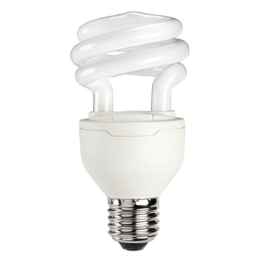 Philips 75w Equivalent Soft White 2700k A19 Spiral Dimmable Cfl Light Bulb 420034 The Home Depot