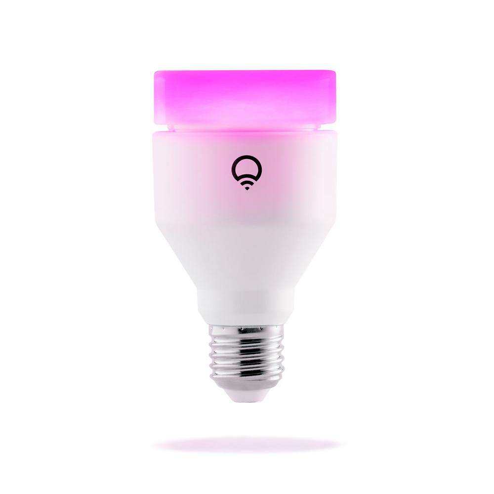 LIFX 75W Equivalent A19 Multi-Color Dimmable Wi-Fi Smart Connected LED Light Bulb
