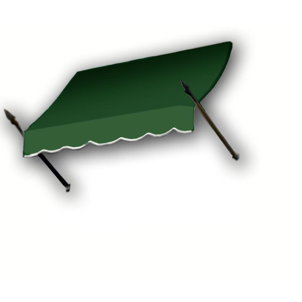 AWNTECH 8 ft. New Orleans Awning (44 in. H x 24 in. D) in Forest