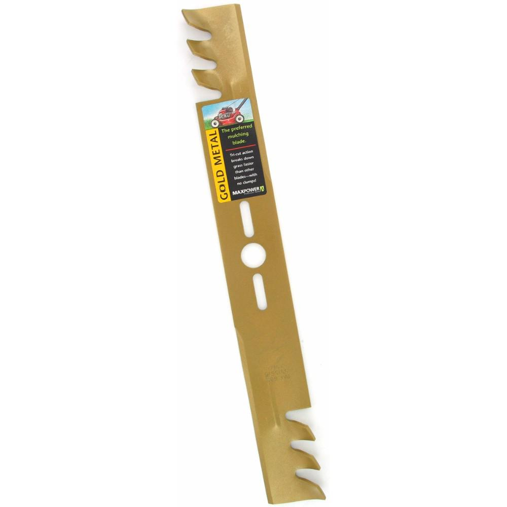 Maxpower 21 in. Universal Gold Commercial Mulching Blade for Lawn Mower