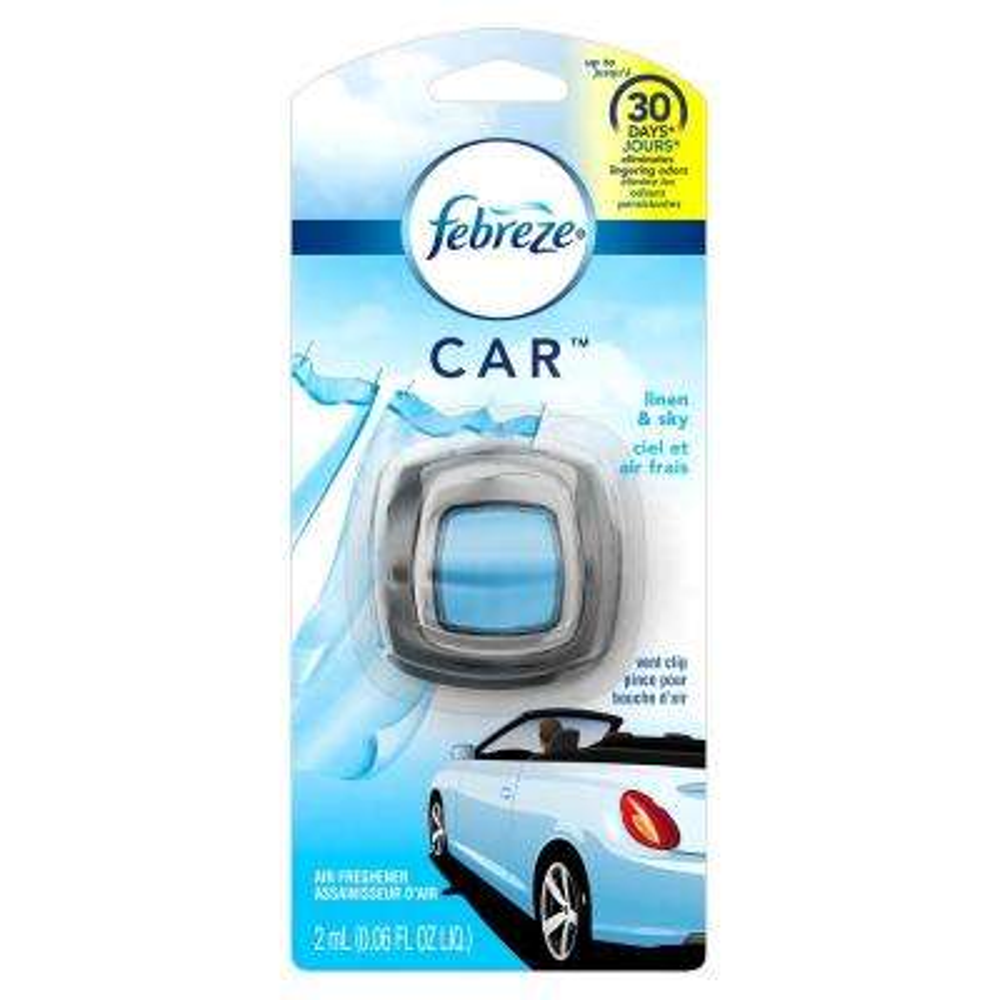 0.06 oz. Linen and Sky Car Vent Clip Air Freshener