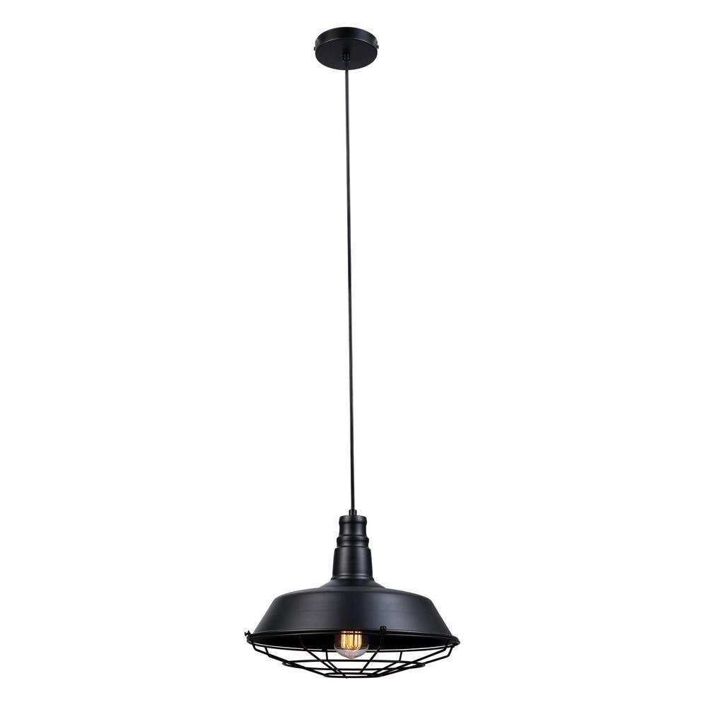 Damon 1-Light Matte Black Pendant