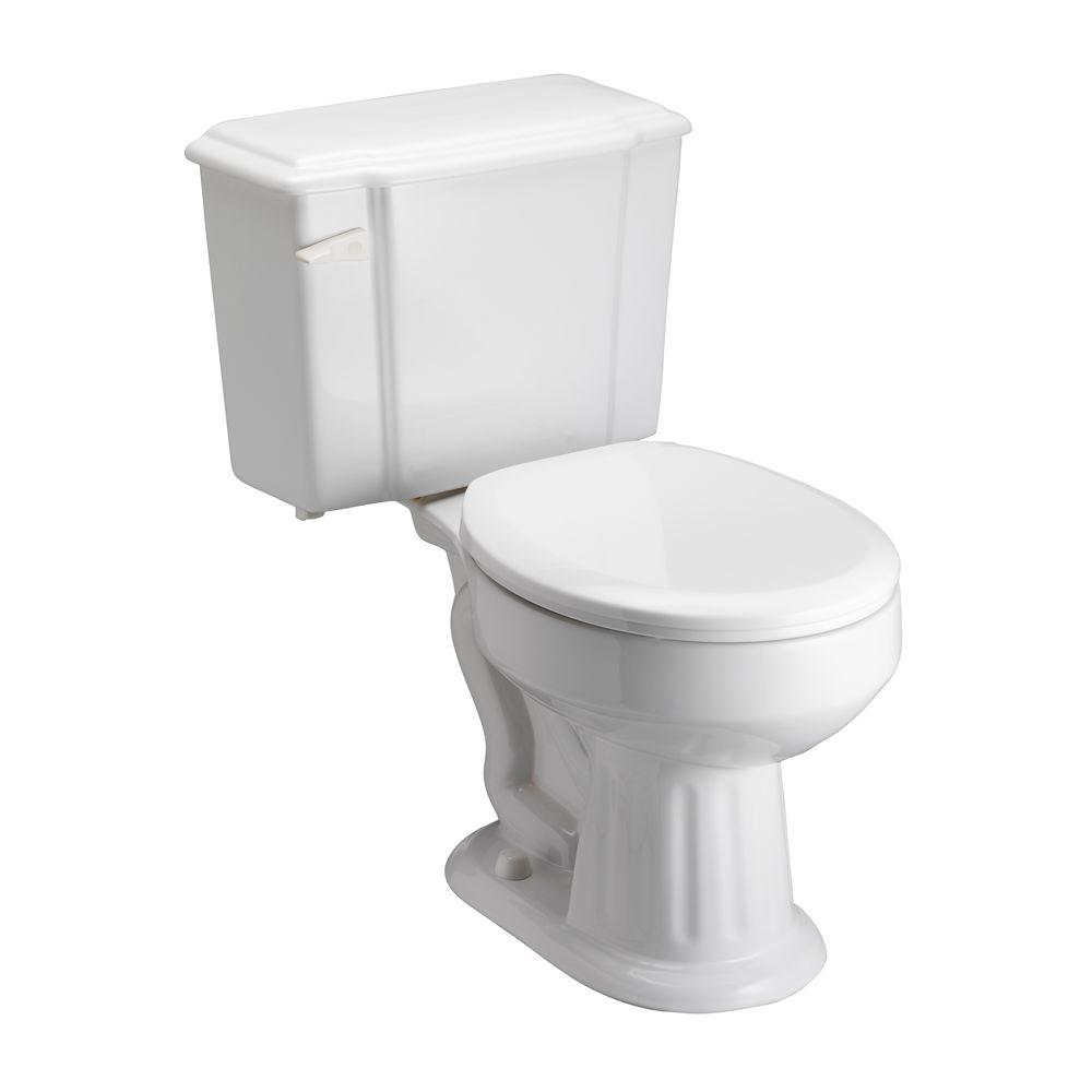 Pegasus Vicki 2-piece 1.6 GPF Round Toilet in White