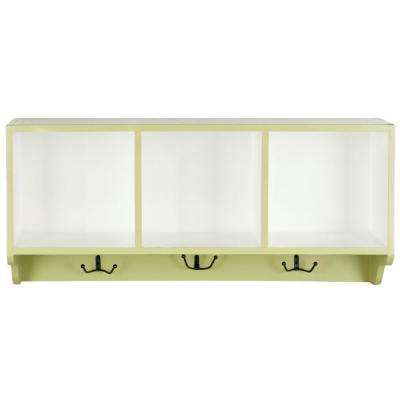 Alice Avocado Green and White Wall Mounted Coat Rack