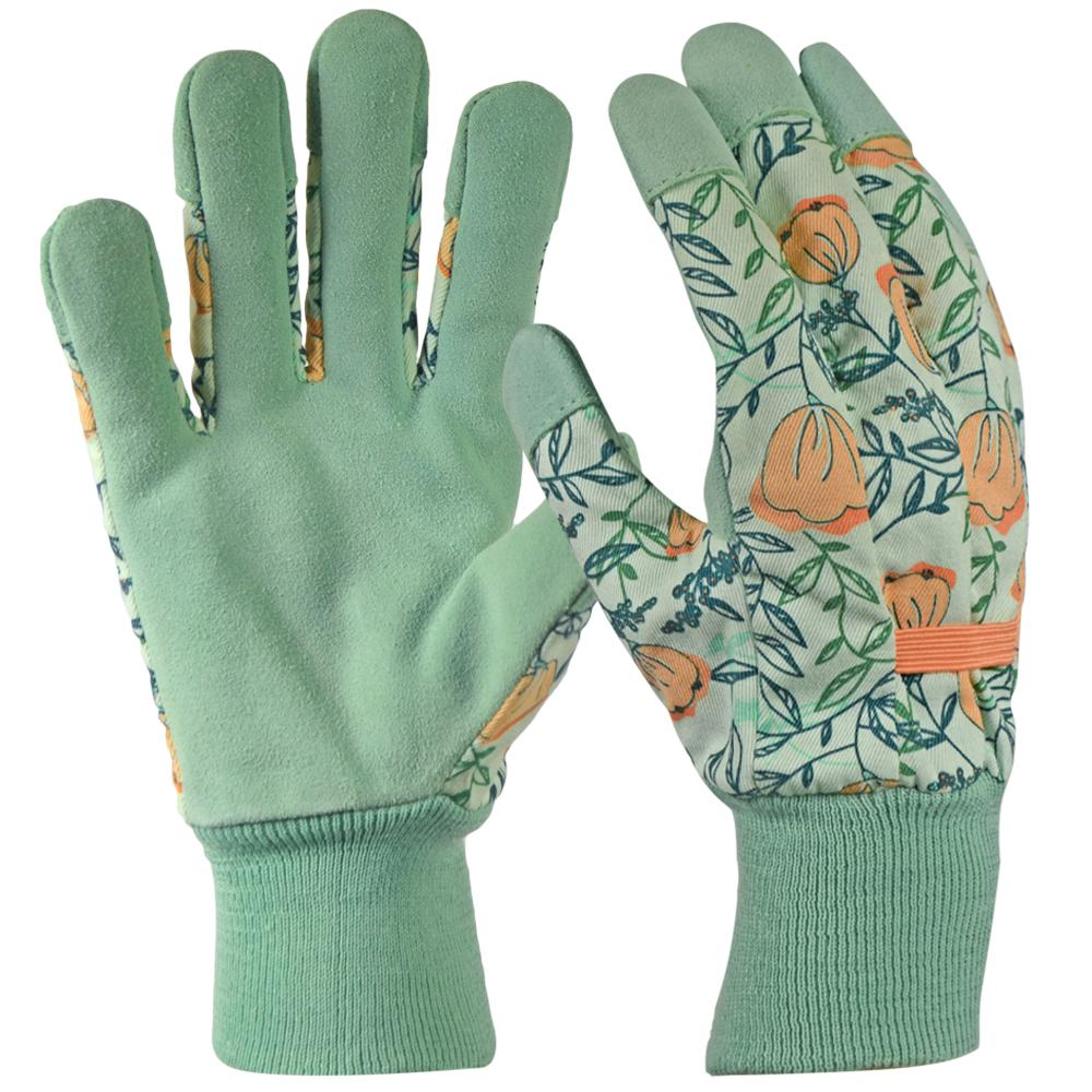 8513171d3 Digz Leather Palm with Knit Wrist Women's Medium Green Glove-77867 ...