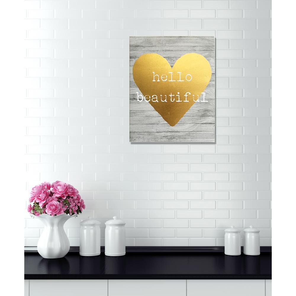 "20 in. x 16 in. ""Hello Beautiful"" By Wynwood Studio Framed Printed Canvas Wall Art"