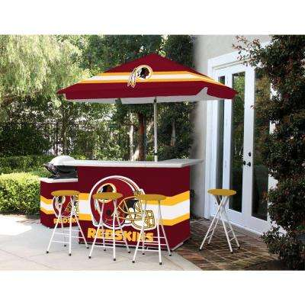 Washington Redskins 6-Piece All-Weather Patio Bar Set with 6 ft. Umbrella