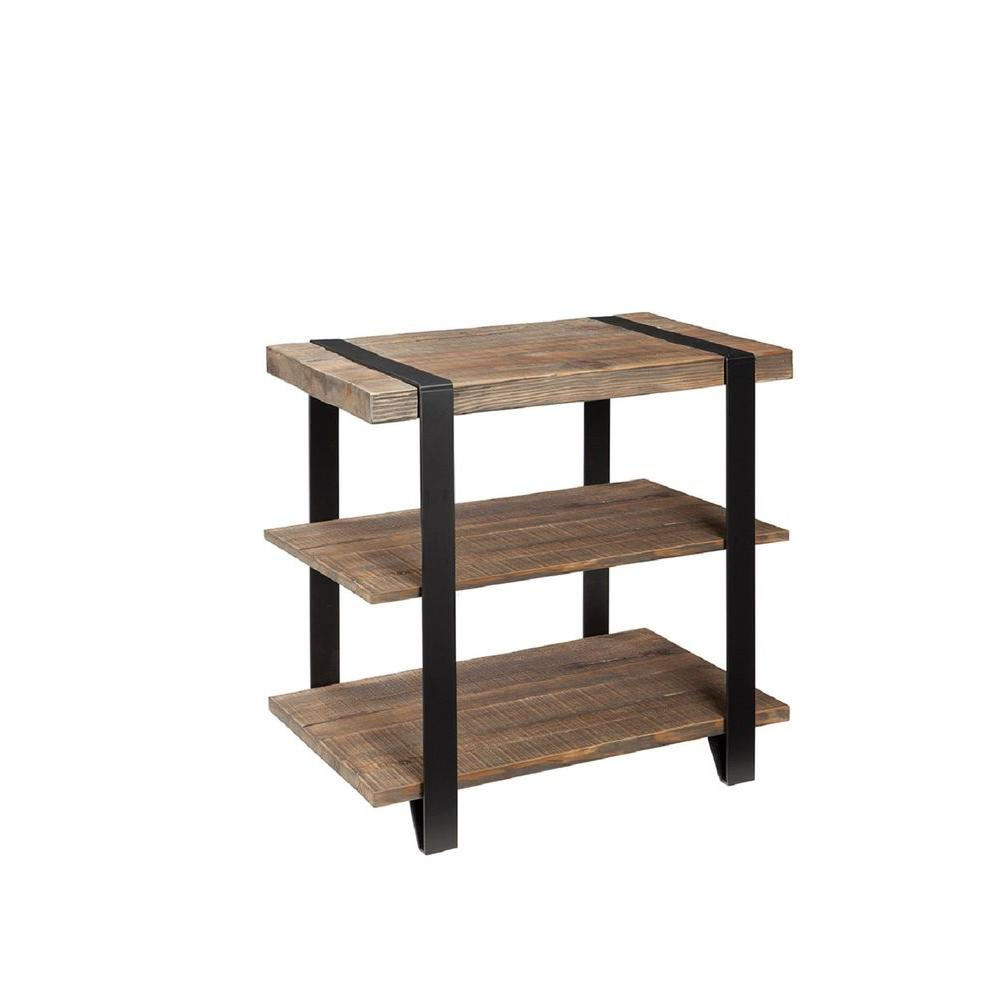 Alaterre Furniture Modesto Natural Storage End Table Amsa0120 The Home Depot
