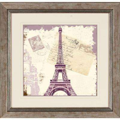 """19 in. x 19 in. """"Shabby Travel A"""" Framed Wall Art"""