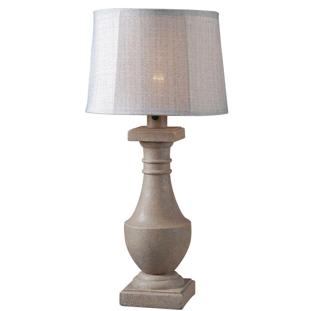 Kenroy Home Patio 31 in. Coquina Outdoor Table Lamp