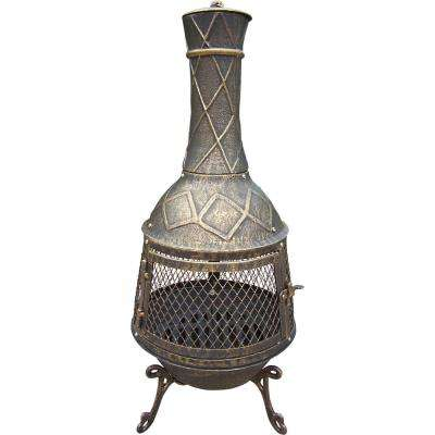 Jr. Elite Chimenea 14.5 in. W x 35.5 in. H with Full Sides Spark Guard Screen and Door