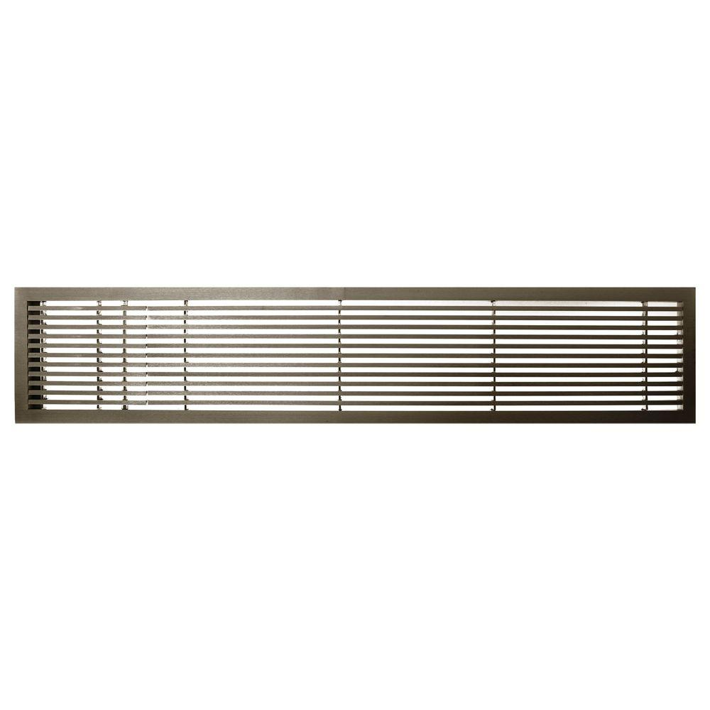 Architectural Grille AG20 Series 4 in. x 36 in. Solid Aluminum Fixed Bar Supply/Return Air Vent Grille, Antique Bronze with Left Door