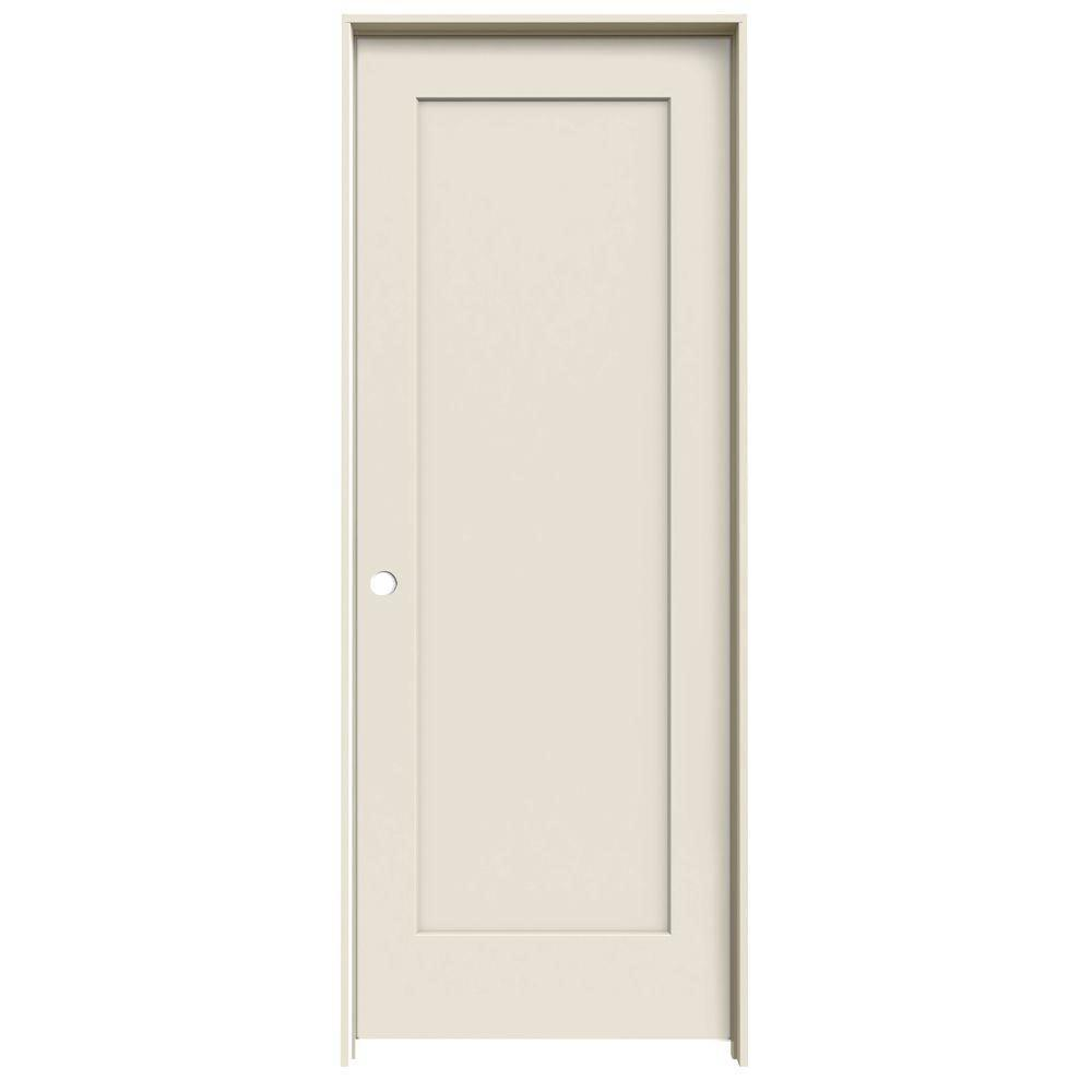 Madison Primed Right-Hand Smooth  sc 1 st  The Home Depot & JELD-WEN 30 in. x 78 in. Madison Primed Right-Hand Smooth Molded ...