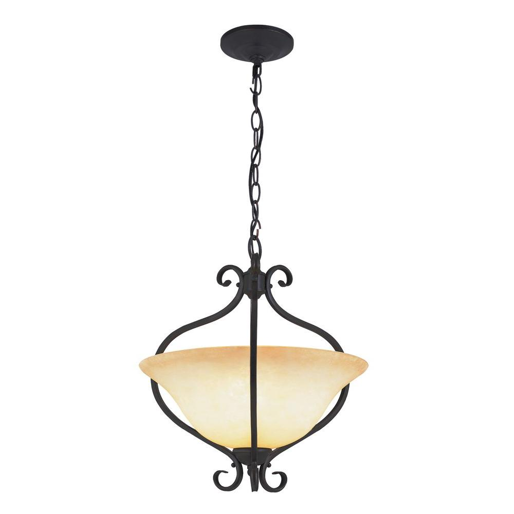 Bel Air Lighting 2-Light Antique Bronze Pendant with Crus...