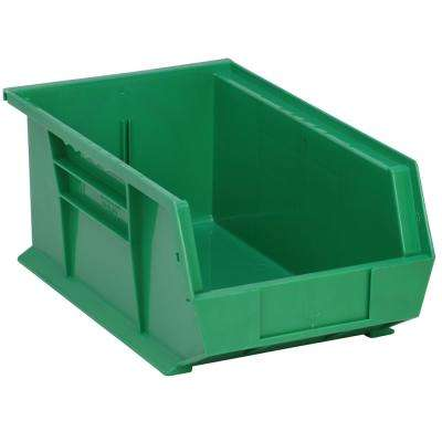 Ultra Series Stack and Hang 7 Gal. Storage Bin in Green (12-Pack)