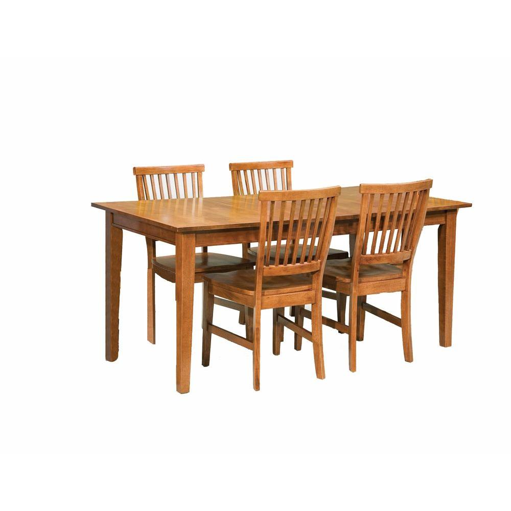 Home Styles Arts And Crafts 5 Piece Cottage Oak Dining Set