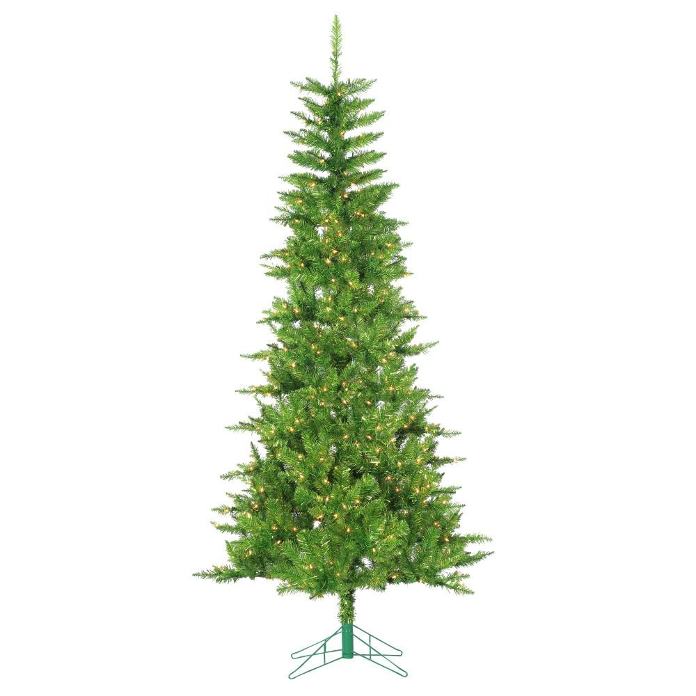 Sterling 7.5 ft. Pre-Lit Green Tuscany Tinsel Artificial Christmas ...