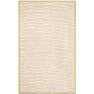 Natural Fiber Sand 6 ft. x 9 ft. Area Rug