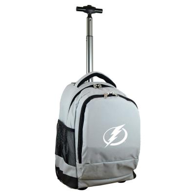 Denco NHL Tampa Bay Lightning 19 in. Gray Wheeled Premium Backpack