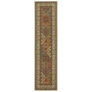 Home Decorators Collection Persia Almond Buff 2 ft. x 8 ft. Runner by Home Decorators Collection
