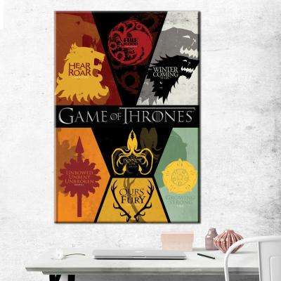 24 in. x 36 in. Game of Thrones - Sigils Gallery Wrapped Canvas Wall Art