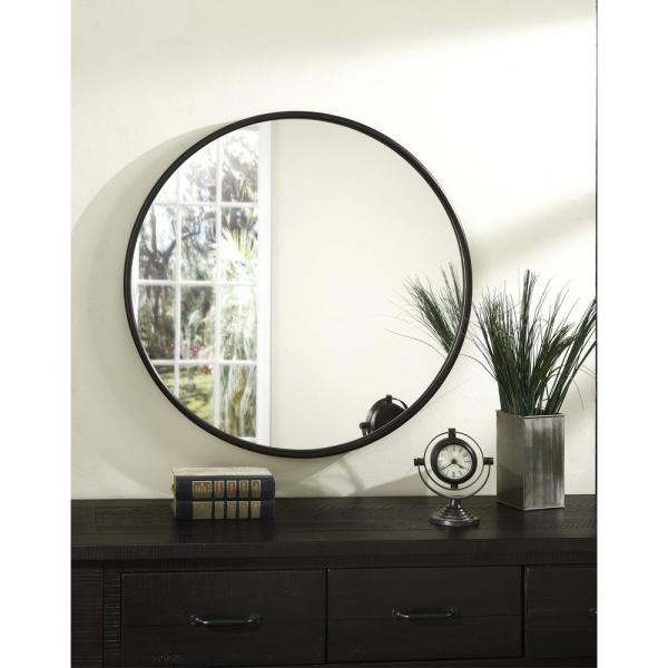 Oil Rubbed Bronze Framed Round Wall