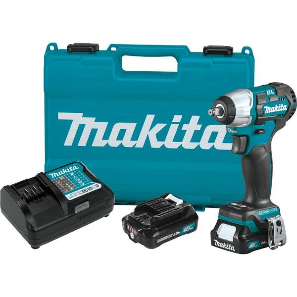 12-Volt MAX CXT Lithium-Ion Brushless Cordless 3/8 in. sq. Drive Impact Wrench Kit (2.0 Ah)
