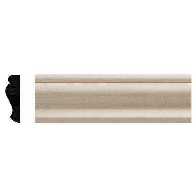 3/8 in. x 1-1/4 in. x 96 in. White Hardwood Colonial Trim Moulding