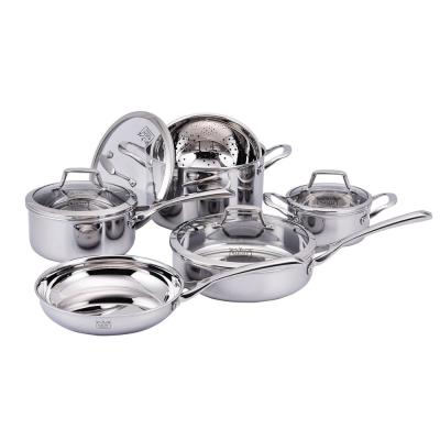 Culinary Professional 3-Ply Stainless Steel 10-Piece Cookware Set