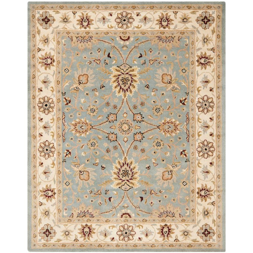 Antiquity Light Blue/Ivory 6 ft. x 9 ft. Area Rug