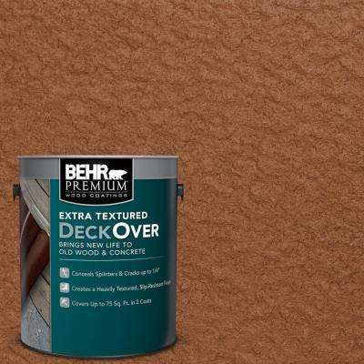 1 gal. #SC-122 Redwood Naturaltone Extra Textured Solid Color Exterior Wood and Concrete Coating